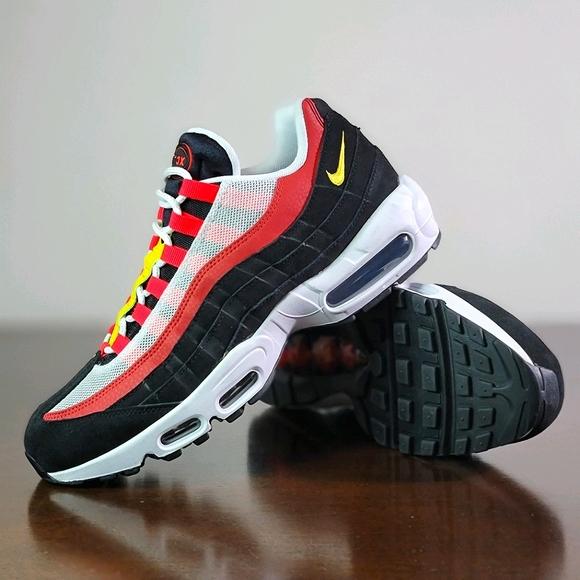 Nike Air Max 95 Essential Bright Crimson Black Red